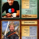 Limited edition fantasy role playing game designed by Dave Whyte. Roy character card.