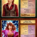 Limited edition fantasy role playing game designed by Dave Whyte. Jen character card.