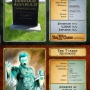 Limited edition fantasy role playing game designed by Dave Whyte. Denholm character card.
