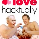 Love Hacktually DVD Cover. Paul Dacre and Hugh Grant get intimate. Used In Charlie Brooker's piece about the coverage of the Levenson Inquiry.