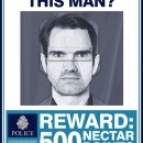 Police photofit of a wanted man. Used as a prop in Jimmy Carr's police station sketch